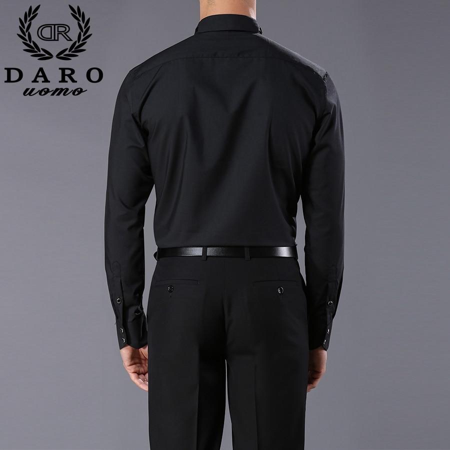 long sleeve pure color male tuxedo shirt 3