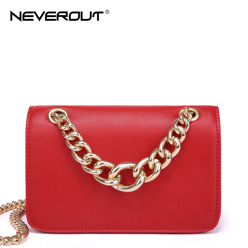 NeverOut 4 Color Fashion Split Leather Shoulder Bag for Women Messenger Bags Versatile Luxury Chain Small Flap Crossbody Bags lacattura small bag women messenger bags split leather handbag lady tassels chain shoulder bag crossbody for girls summer colors