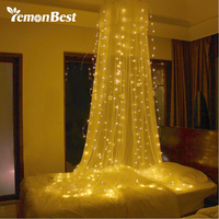 3 3m 300 LED Curtain Light Fairy Warm White String Lamp With Pendant Christmas Decorations For