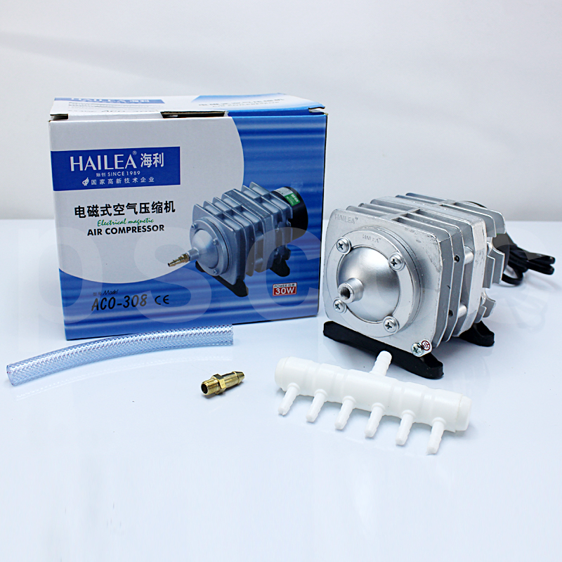30W 55L min Hailea ACO 308 Electromagnetic Air Compressor aquarium air pump Fish Tank Oxygen AirPump