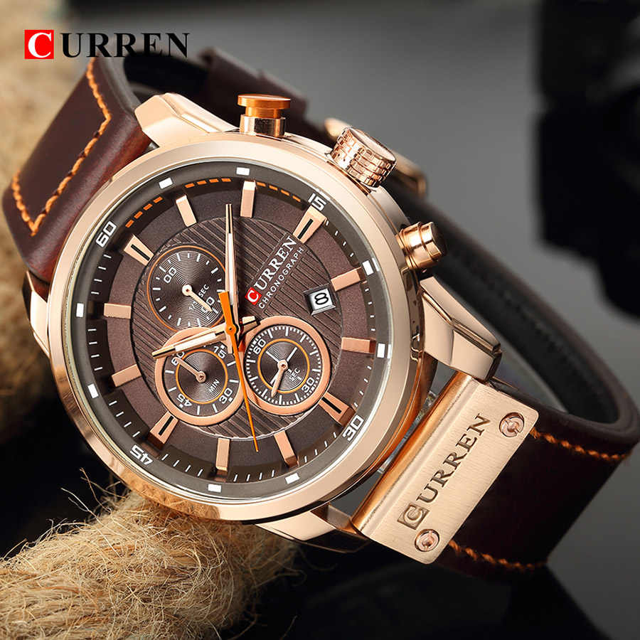 Curren שעון למעלה מותג גבר שעונים עם הכרונוגרף ספורט עמיד למים שעון גבר שעונים צבאי יוקרה גברים של שעון אנלוגי קוורץ