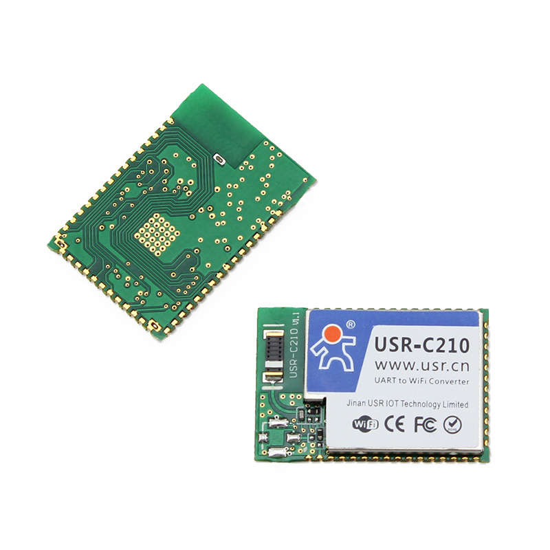 USR-C210 SMT Type Low Power Industrial Serial WIFI Module TTL UART to Wifi Module Converter Small Size Built-in Webpage Q012 usr wifi232 d2b direct factory 3 3v power serial uart ttl port to ethernet wifi wireless module converter with built in webpage