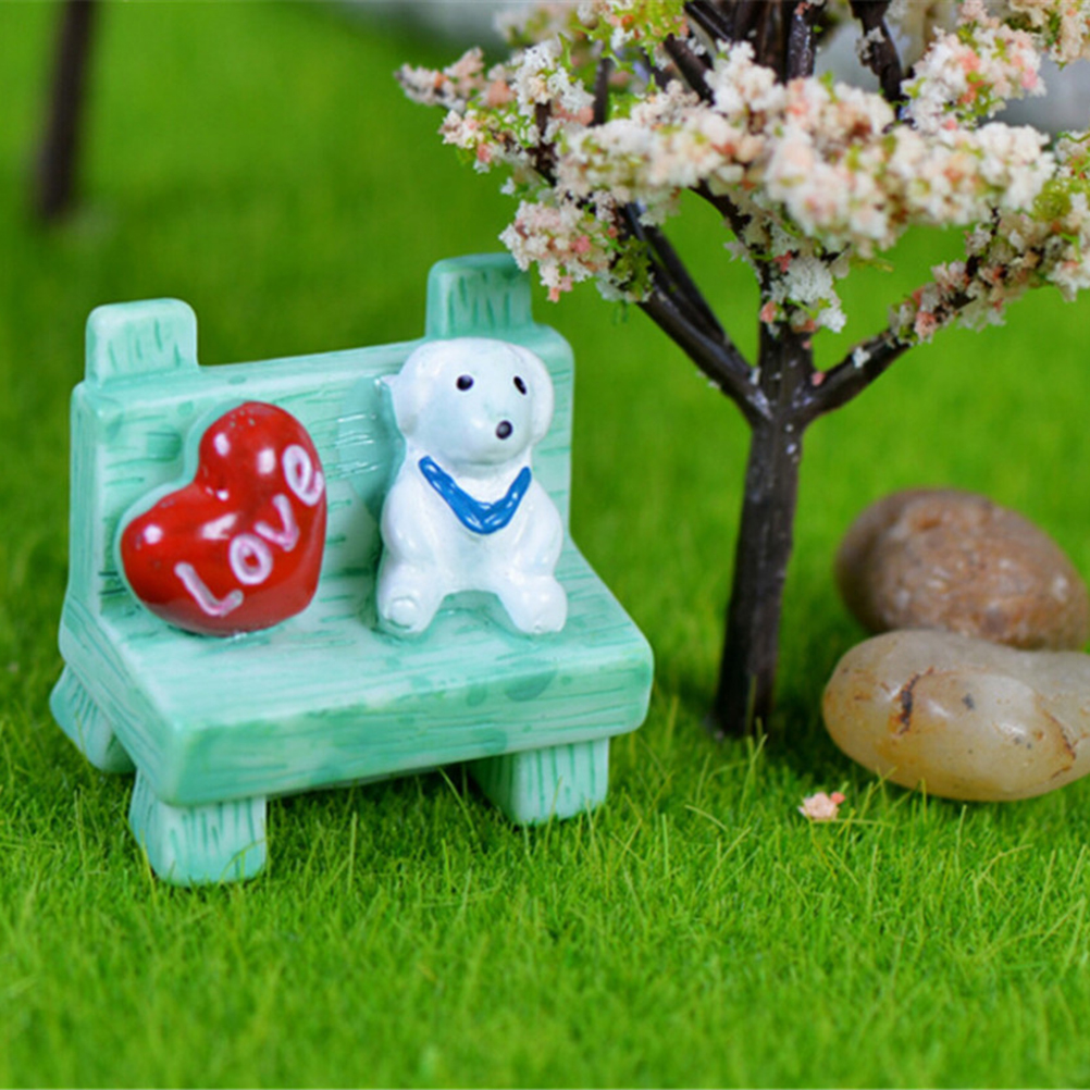 DIY Cute Sofa Dog Chair Micro Fairy Garden Decoration Accessories ...