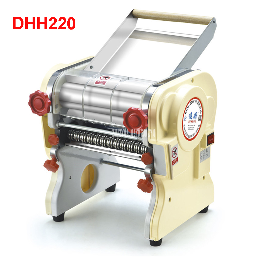 DHH220 Stainless steel household electric pasta pressing machine Ganmian mechanism commercial Electric Noodle Makers 22cm width 1pc household mini pasta machine manual metal spaetzle makers pressing machine pole head mingled split noodle tools