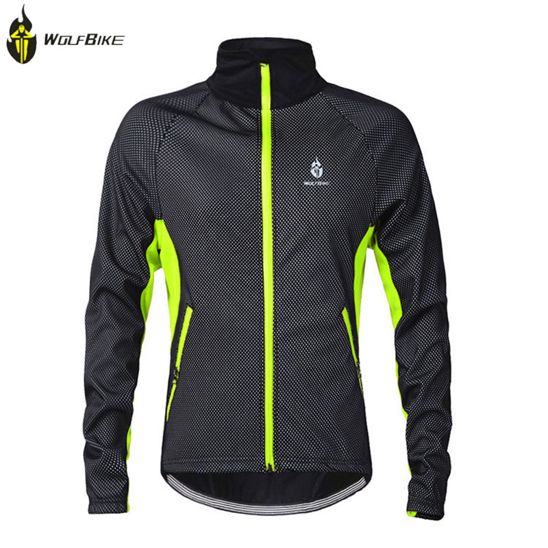 WOLFBIKE Winter Cycling Fleece Thermal Windproof Ropa Ciclismo Outdoor Sports Jacket MTB Road Hiking Bike Bicycle Cycling Jersey цена