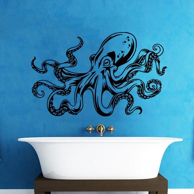 Octopus Tentacles Sprut Kraken Ocean Sea Animal Living Room Vinyl Carving Wall  Decal Sticker For Home