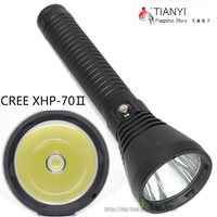 Stepless dimming LED Diving torch Underwater Waterproof 100m CREE XHP70 LED SCUBA Diving Flashlight Torch For 2*26650battery