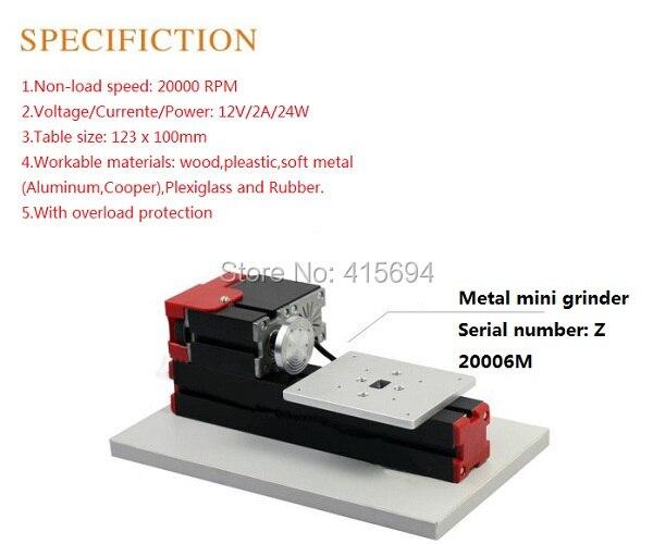 XinYun XinYun Mini M/étal Tour rouge m/étal tour Outil de bricolage pour travailler le bois de tour 24W
