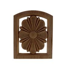 VZLX Calcomanía para madera Floral Onlay aplique Vintage para puertas de pared gabinete decoración para muebles de hogar decoración de jardín accesorios Maison