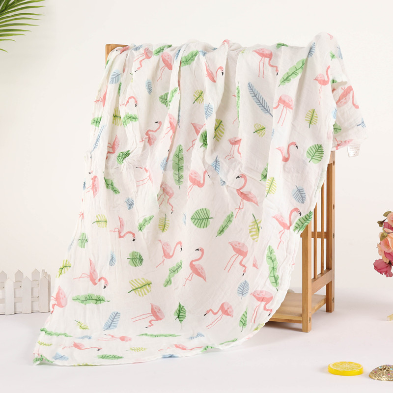 2018 New Baby Blanket Dinosaur Newborn Baby Muslin Blanket Swaddle Bamboo Cotton Soft Baby Bath Towel Swaddle Blankets