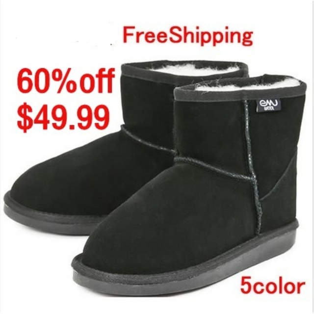 EMYEMU Bronte Mini(W20003) Cow-Suede Genuine with 100% Wool inner Winter Snow Boots