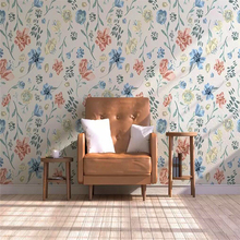 цена на Decorative wallpaper modern simple style vintage watercolor flower background wall painting