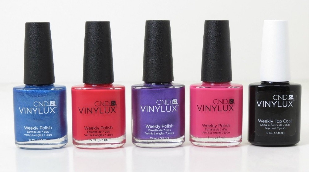 CND Vinylux Lacquer Nail Polish Set (4 color + 1 Weekly Top Coat ) лак для ногтей cnd vinylux weekly polish 7 days craft culture collection 223 цвет 223 brick knit variant hex name b11e14