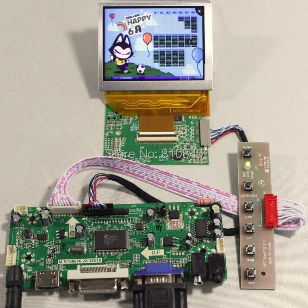 HDMI+DVI+VGA+Audio LCD controller board+LVDS Tcon board+3.5inch PD035VX2 640*480 LCD panel