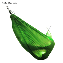 Double Single Outdoors Hammocks Lightweight Nylon Portable Hammock Best Parachute Hammock For Backpacking Camping Hiking 2 to 3 persons 290 140cm tree hammocks camping indoor outdoor portable parachute hammocks for backpacking survival travel