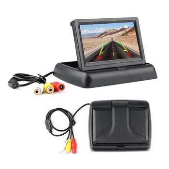 "4.3"" HD Foldable Car Rear View Monitor Reversing LCD TFT Display Night Vision Backup Rearview Camera PAIL/NTSC for Vehicle"