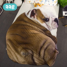 AAG Baby Air Conditioning 3D Quilt Child Cartoon Animal Summer Cool Quilt Simulation Shaped Dog Cat Bed Sofa Quilts Blankets 40(China)
