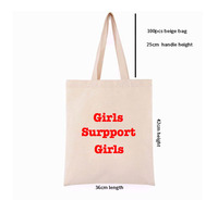 100 pcs Custom Logo Canvas Cotton Tote Bag Shopper Bag Women Fashion Washable Plain Tote Bag Natural Canvas Shopping Bag
