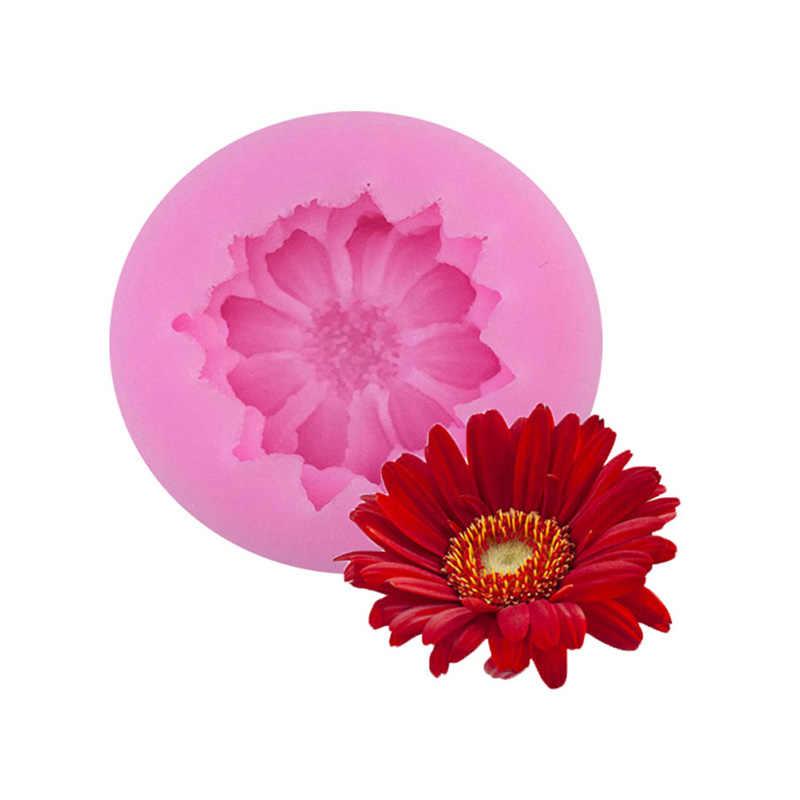 أدوات تزيين الكعكة ثلاثية الأبعاد زهرة الورد قالب من السيليكون هدية فندان تزيين الشوكولاته كوكي الصابون بوليمر كلاي قوالب مخبوزة