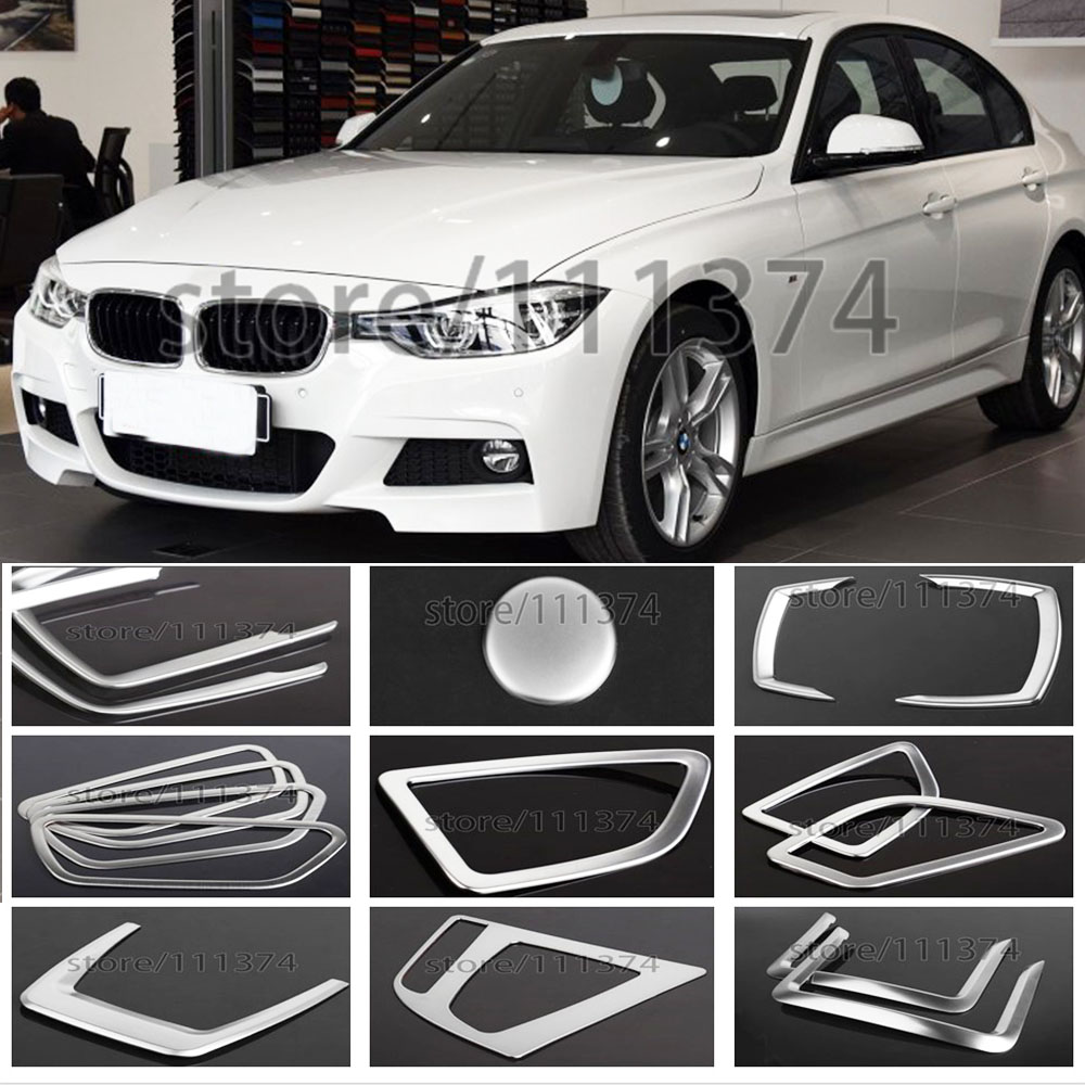 4Pcs Interior Front Sides Air Condition Vent Trim Cover For BMW 3 Series F30 F35
