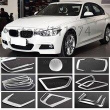 Нет спереди Кондиционер Vent крышка зеркало заднего вида отделки декоративная рамка для BMW 3 серии F30 316i 320i хром наклейки для автостайлинга для леворульных автомобилей