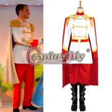 Custom Made Cinderella Prince Charming Costume Performance Uniform Suit For Men's Halloween Adult Cosplay Costume