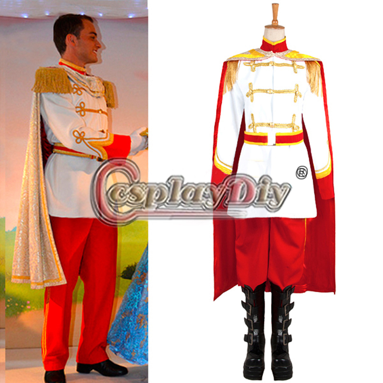 custom made cinderella prince charming costume performance uniform suit for mens halloween adult cosplay costume - Prince Charming Halloween Costumes