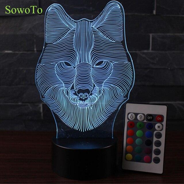 3D LED Nachtlicht Baby 7 Farbe Raumdekor Bunten Luminaria Touch Schalter  Tischleuchte Lava Lampe USB