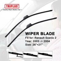 Wiper Blade For RENAULT SCENIC 2 2003 2004 1 Set 26 21 Flat Aero Windscreen Wiper