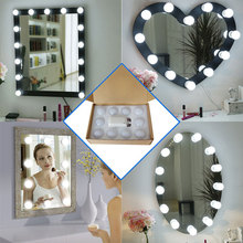 Dual color temperature Hollywood mirror bulb dimmer headlight led cosmetic string USB beauty