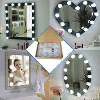 Dual color temperature Hollywood mirror bulb dimmer headlight led cosmetic mirror bulb string USB beauty bulb