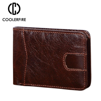 Hot Sale Genuine Leather Vintage Men's Brand Luxury Wallet Short Slim Male Purses Money Clip Credit Card Wallets for Men  PJ030 2017 hot fashion men wallet genuine leather multi bit money clip short card luxury brand clutch purse bag man vintage clutches