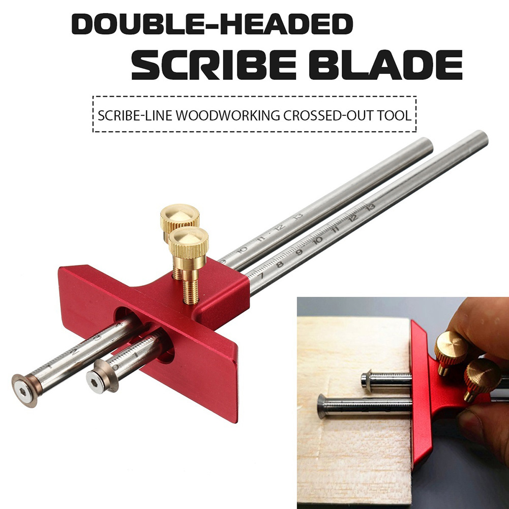 Digital Caliper Measuring Tool Woodworking Measurement Mark Tool Double Head Wood Marking Scriber LO88
