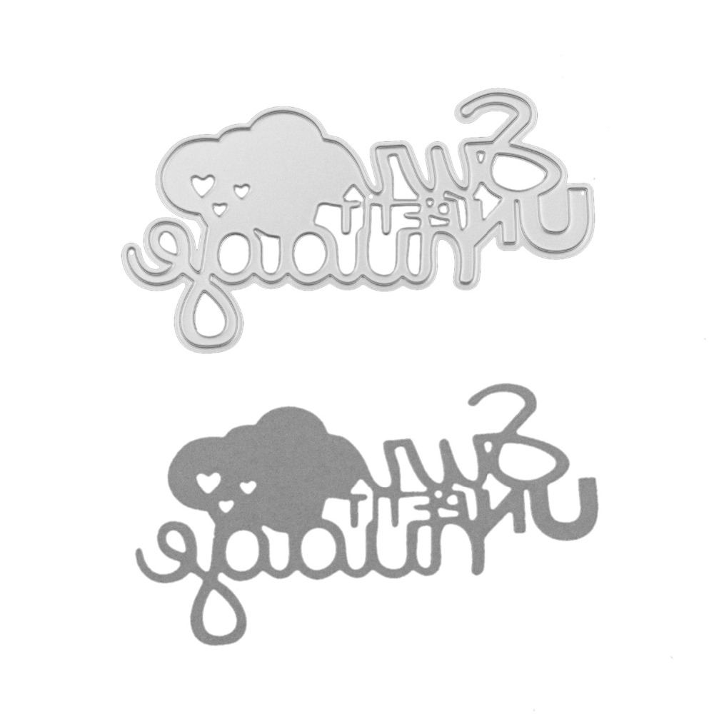 diy sun cloud letter frame metal cutting dies for scrapbooking 3d