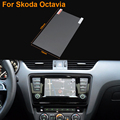 Car Styling 6.5 Inch GPS Navigation Screen Steel Protective Film For Skoda Octavia Control of LCD Screen Car Sticker