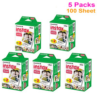 Genuine 20pcs Box Fujifilm Fuji Instax Mini White Film 100 Sheet Instant Photo Paper For