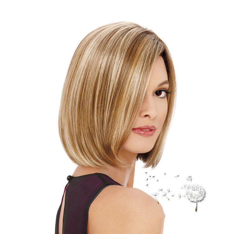 Classical piano color light brown mix blonde short bob wig classical piano color light brown mix blonde short bob wig highlights cheap heat resistant synthetic bob blonde wigs peruk on aliexpress alibaba group urmus Choice Image