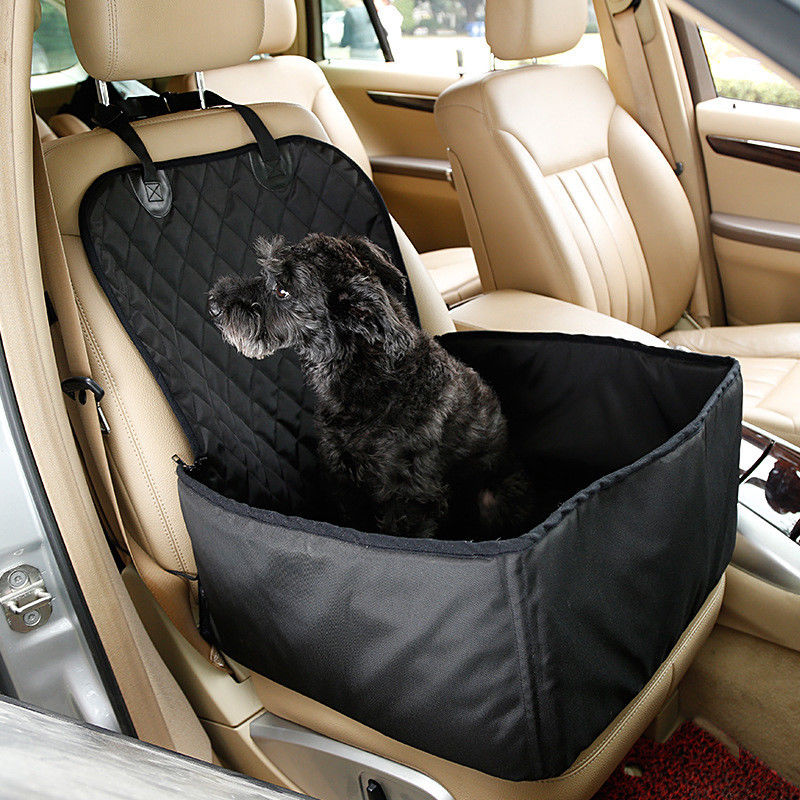 2 in 1 Car Front Pet Car Seat Cover Waterproof Puppy Basket Anti-Silp Pet Car Carrier Dog Cat Car Booster Outdoor Travel