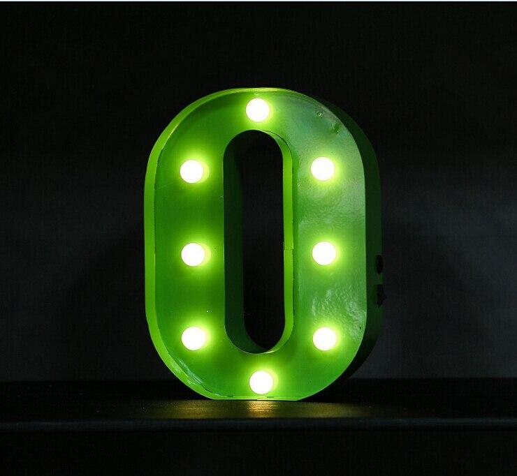 Хорошее качество буквы светодиодный шатер знак загорается винтажный Алфавит пластиковый Настольный Светильник Внутреннее украшение. - 3