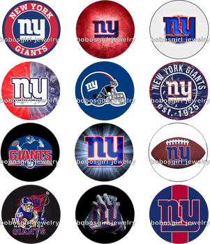 5pcs/set NEW YORK GIANTS    glass Snap button Jewelry  bloom chunks Badge Reel ID holder Perfume Aroma Locket   for BOYS Gl819 snap button jewelry