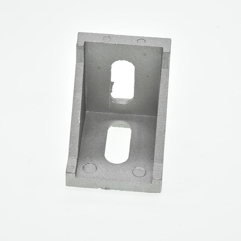 10pcs Corner Fitting Angle Aluminum Connector Bracket Fastener 2020 3030 4040 4545 Series Industrial Aluminum Profile