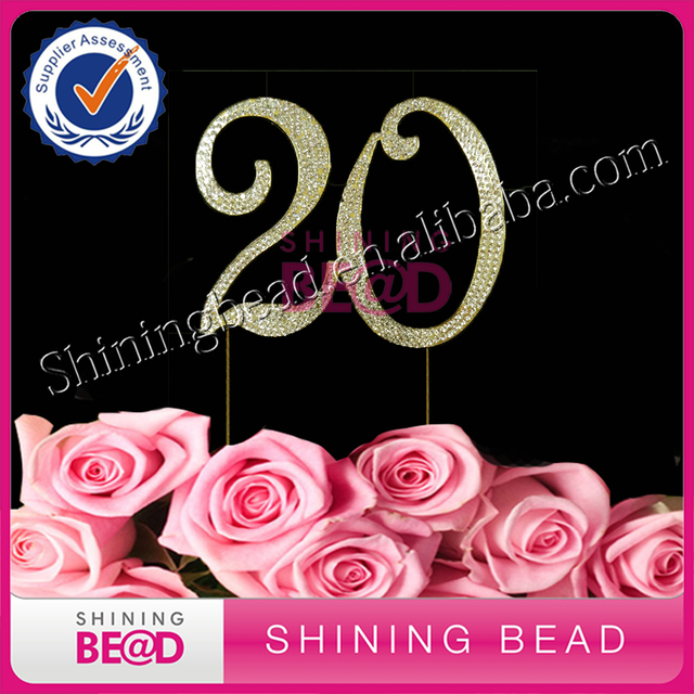 Free Shipping 15 Pcs Lot Numbrer 20 For 20th Birthday Or Anniversary Cake