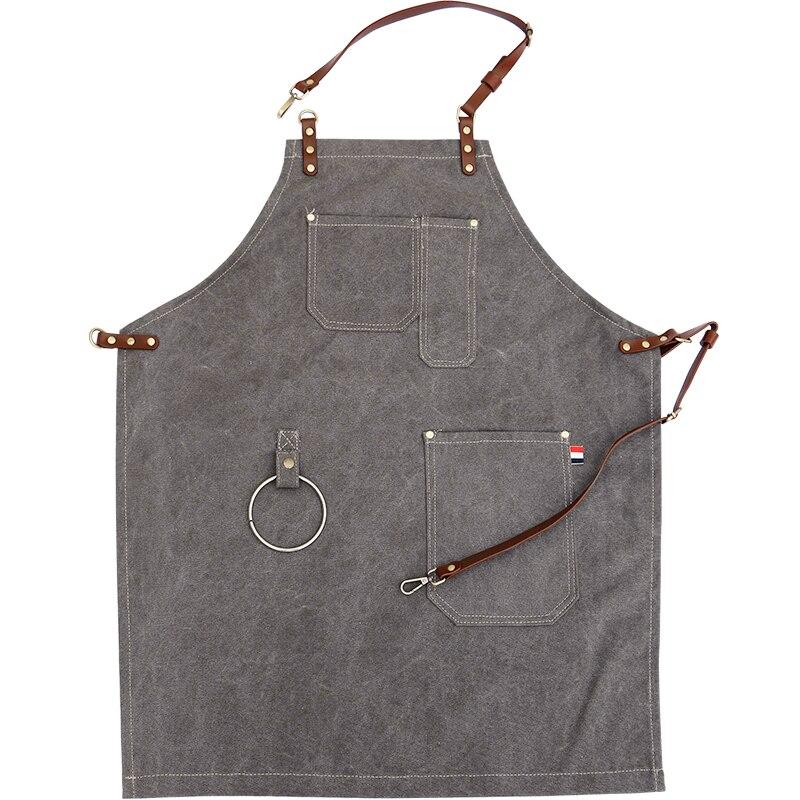 2018 tabliers toile offre spéciale coton vert café Cowboy uniforme unisexe tabliers pour femme hommes cuisine Chef serveur cuisine pinabefore
