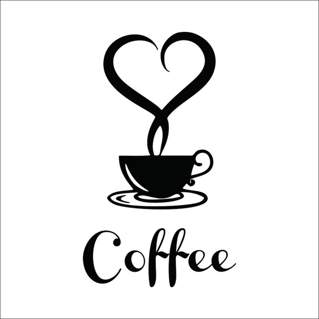 Coffee shop sign modern wall decor decals home decorations 361 ...