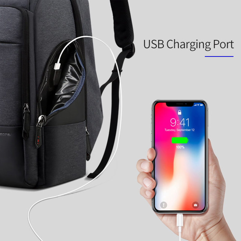 Bopai marca mochila de viagem dos homens alta capacidade multifuncional carregamento usb para 17 polegada portátil mochila anti roubo negócios - 3