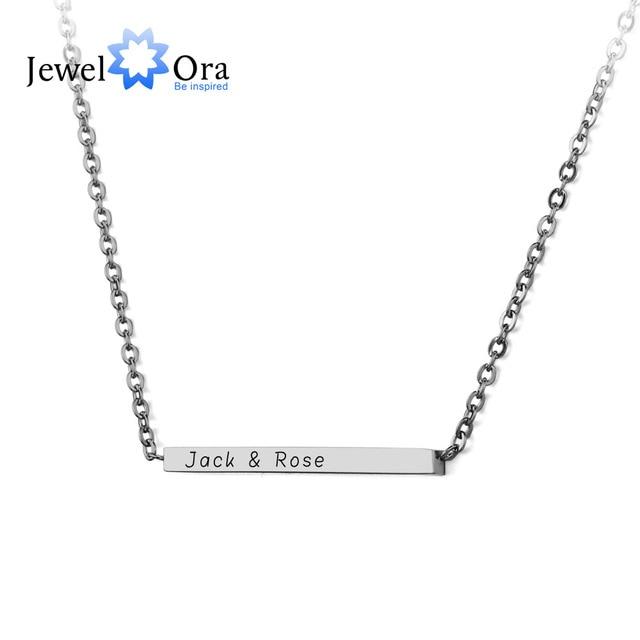 Name necklace diy stainless steel engraved necklaces pendants name necklace diy stainless steel engraved necklaces pendants customize necklace personalised gift jewelora ne101402 aloadofball Choice Image