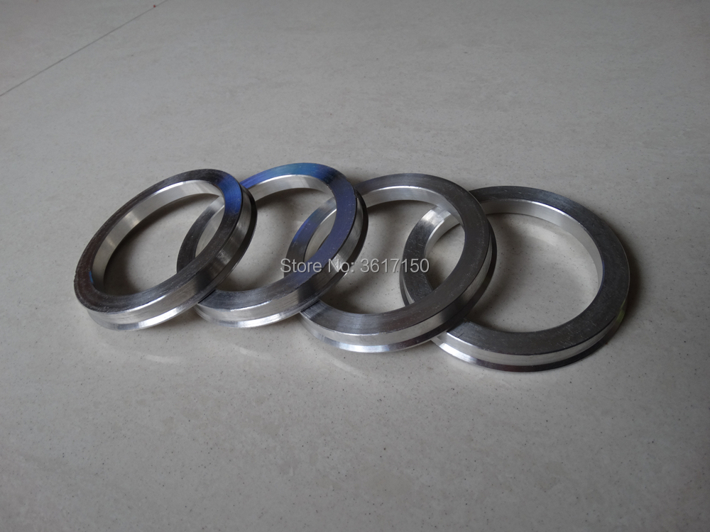 66.1x73 Set of 4 Wheel Hub Rings 66.1 ID 73 OD Hub Centric Rings Of The Polycarbonate Plastic Or Aluminum Alloy enlarge