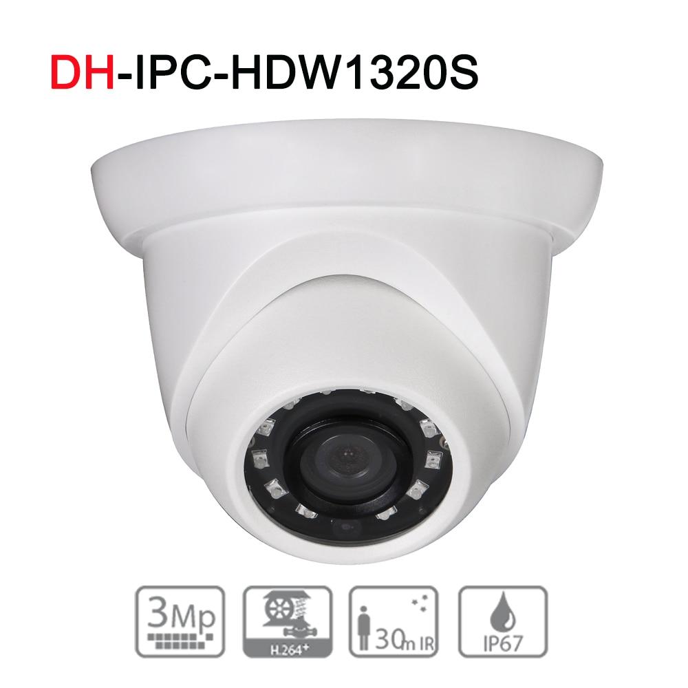 цена на DH IPC-HDW1320S 3MP IR Eyeball Network Camera Original English Upgrade Version IP67 Day/Night(ICR) IR30M Security CCTV IP Camera