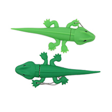 High Speed USB Flash Drive Cartoon gecko Style 128GB PenDrive 64G  Memory Disk mini computer gfit Lovely Stick 2.0 CLE