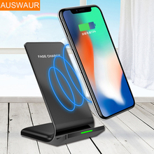 Auswaur QI Wireless Charger for iPhone 8 10 X Charger Wireless Qi for Samsung Note 8 Phone Fast Charging Pad Dock Station